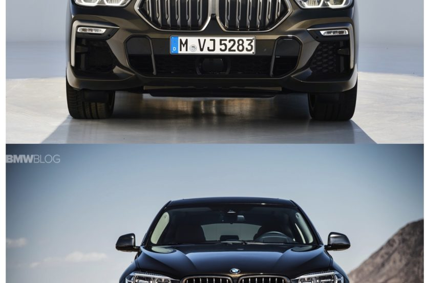 New BMW X6 vs Old BMW X6 830x553