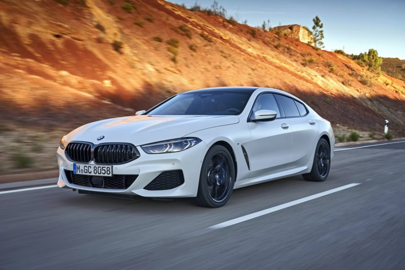 2020 BMW 8 Series Gran Coupe mineral white 53 830x554