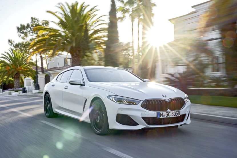 2020 BMW 8 Series Gran Coupe mineral white 75 830x553