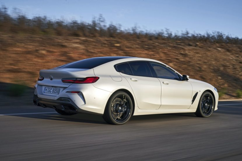 2020 BMW 8 Series Gran Coupe mineral white 79 830x554