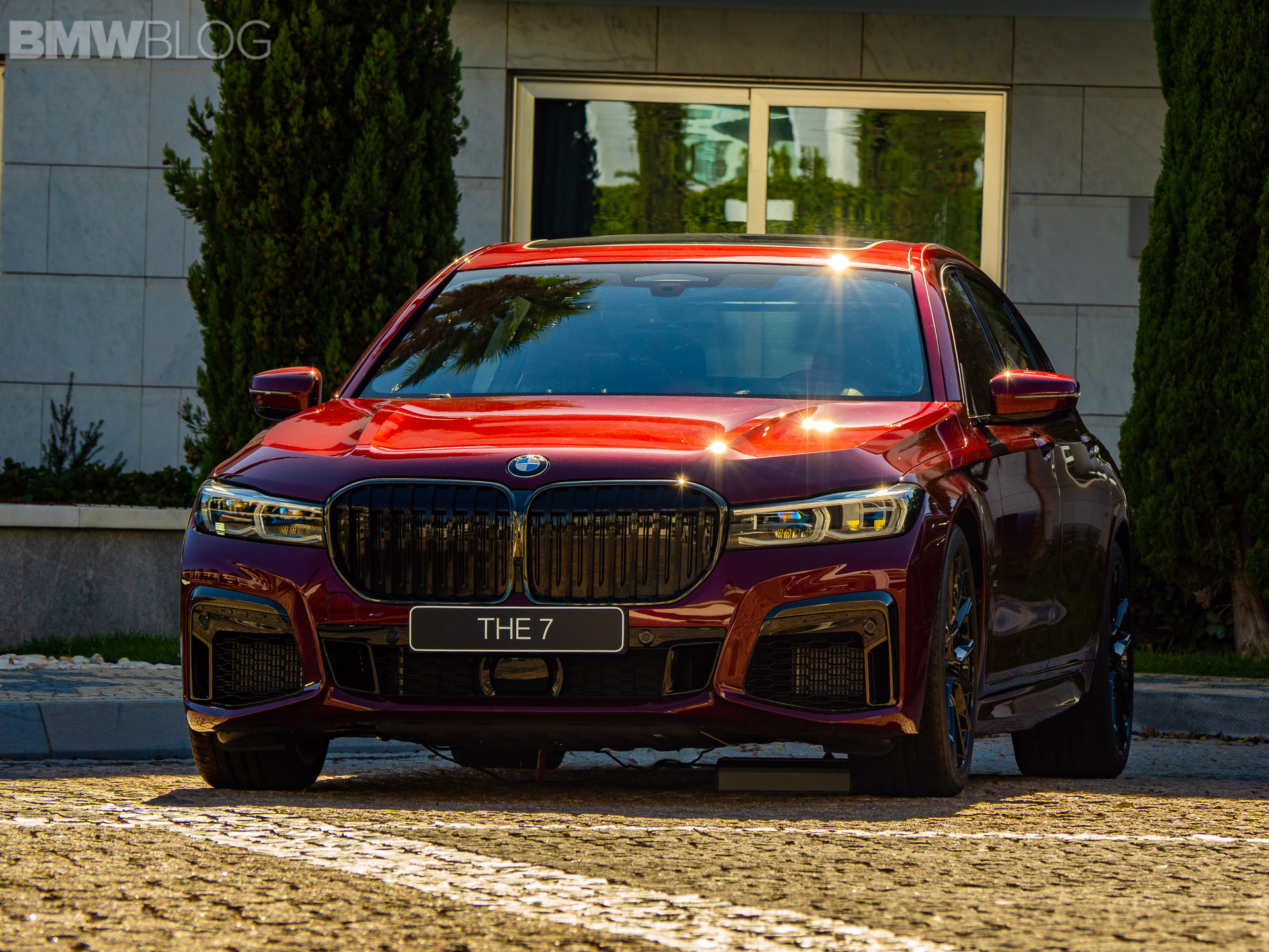 We Spotted Again The 2020 Bmw M760li In Aventurine Red