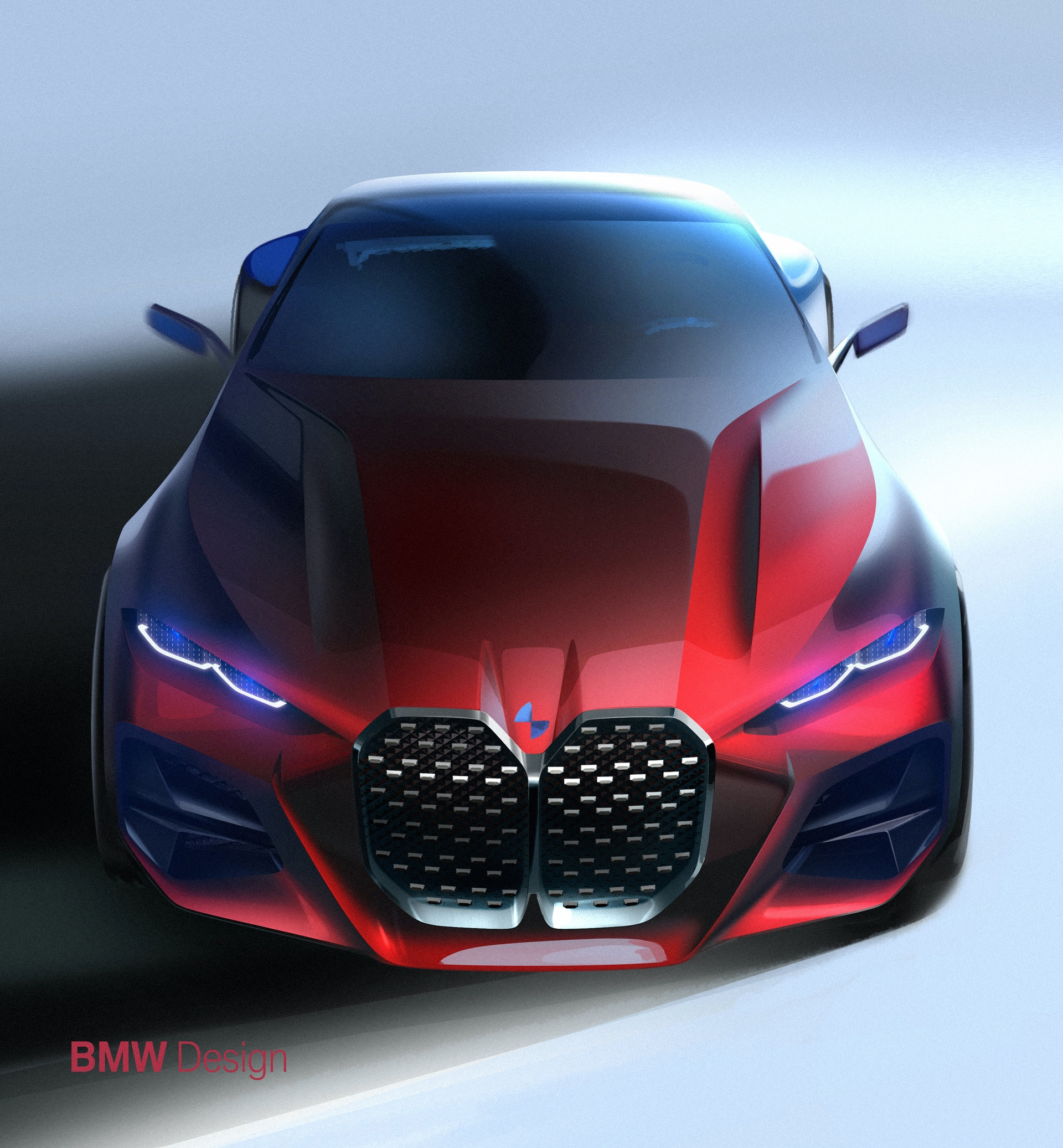 BMW Concept 4 -- A New Interpretation Of The Kidney Gril