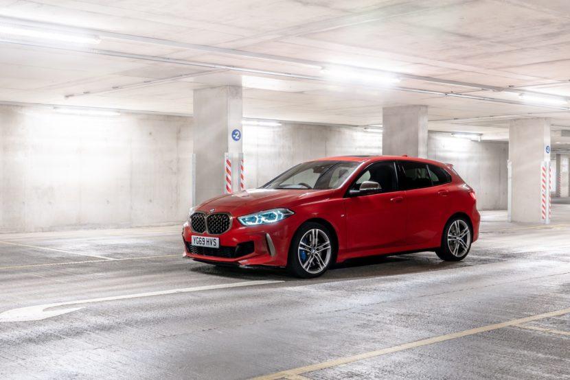 BMW M135i Melbourne Red 34 830x554