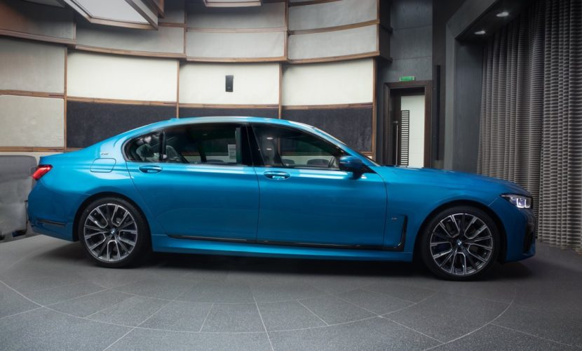 BMW M760Li in Atlantis Blue
