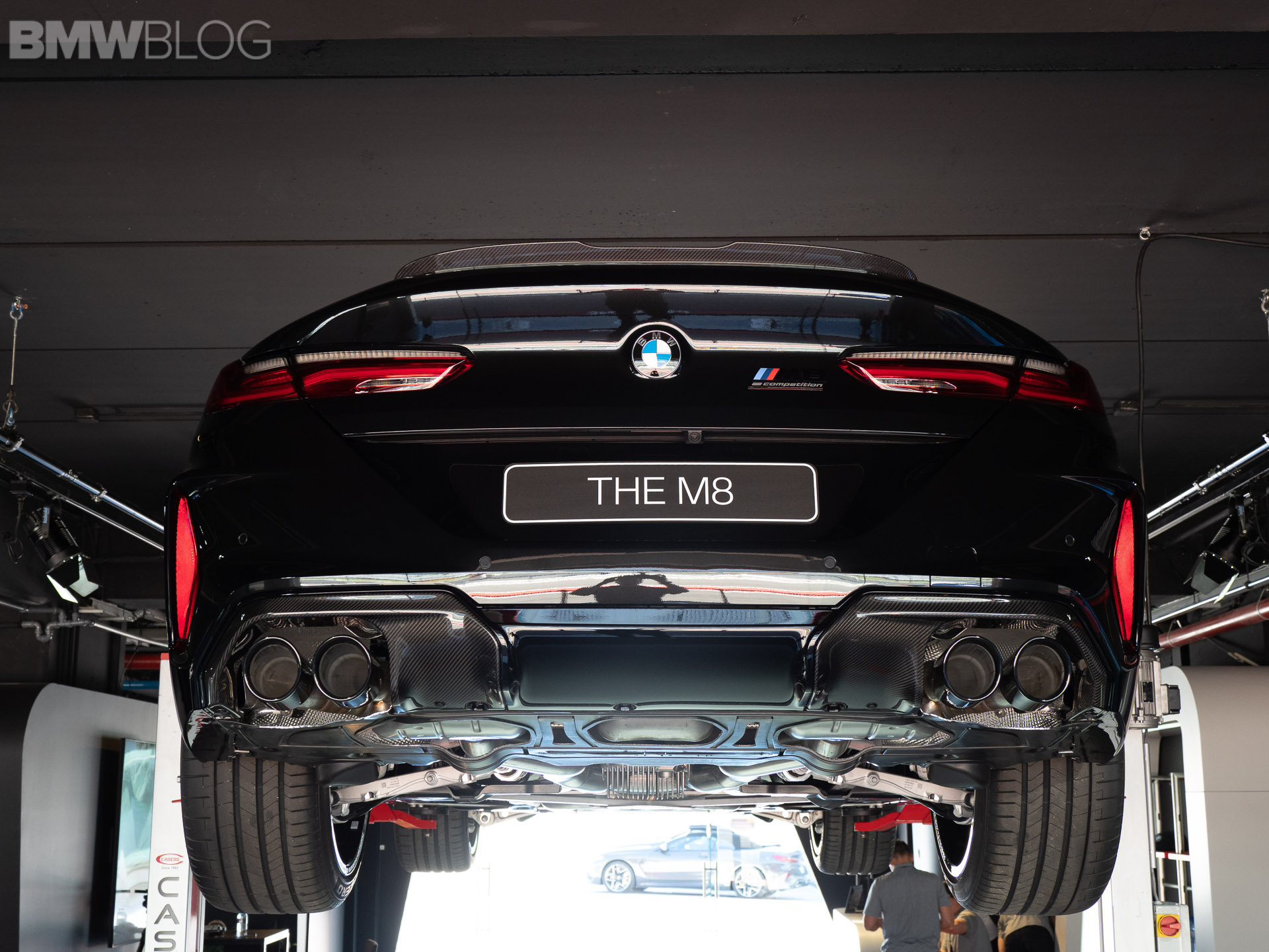 A look at the undercarriage of the new BMW M8 – VIDEO