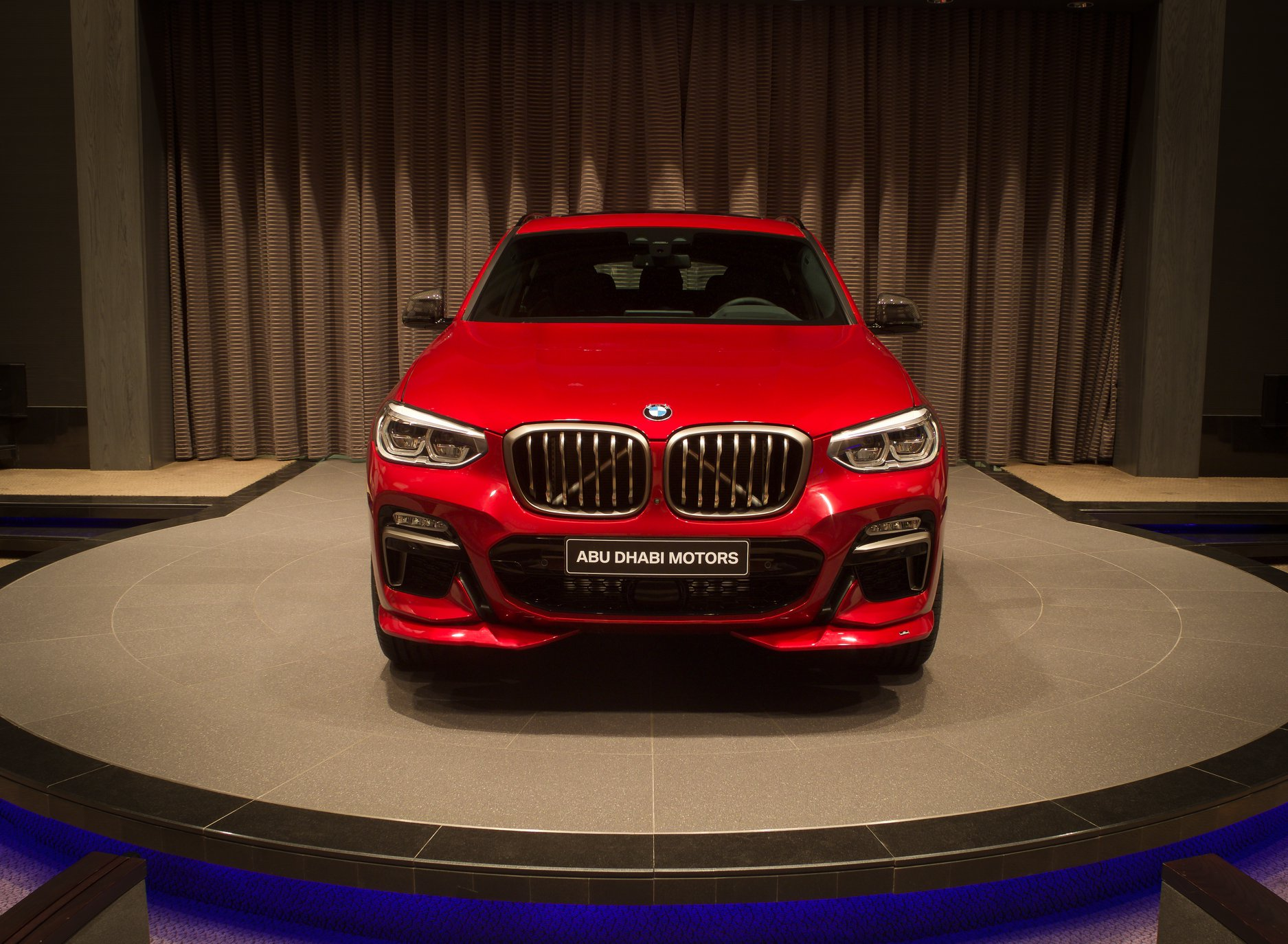 bmw x4 m40i flamenco red abu dhabi 1