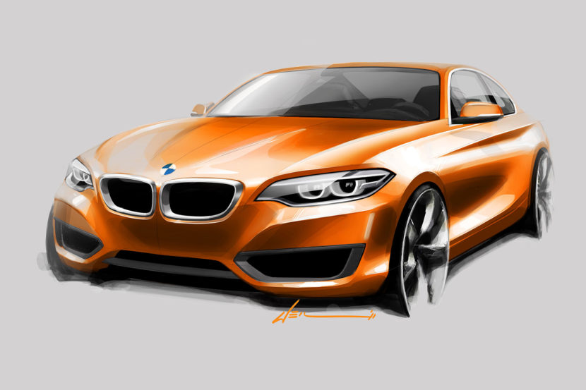 03 BMW 2 Series Coupe Design Sketch 01 830x553