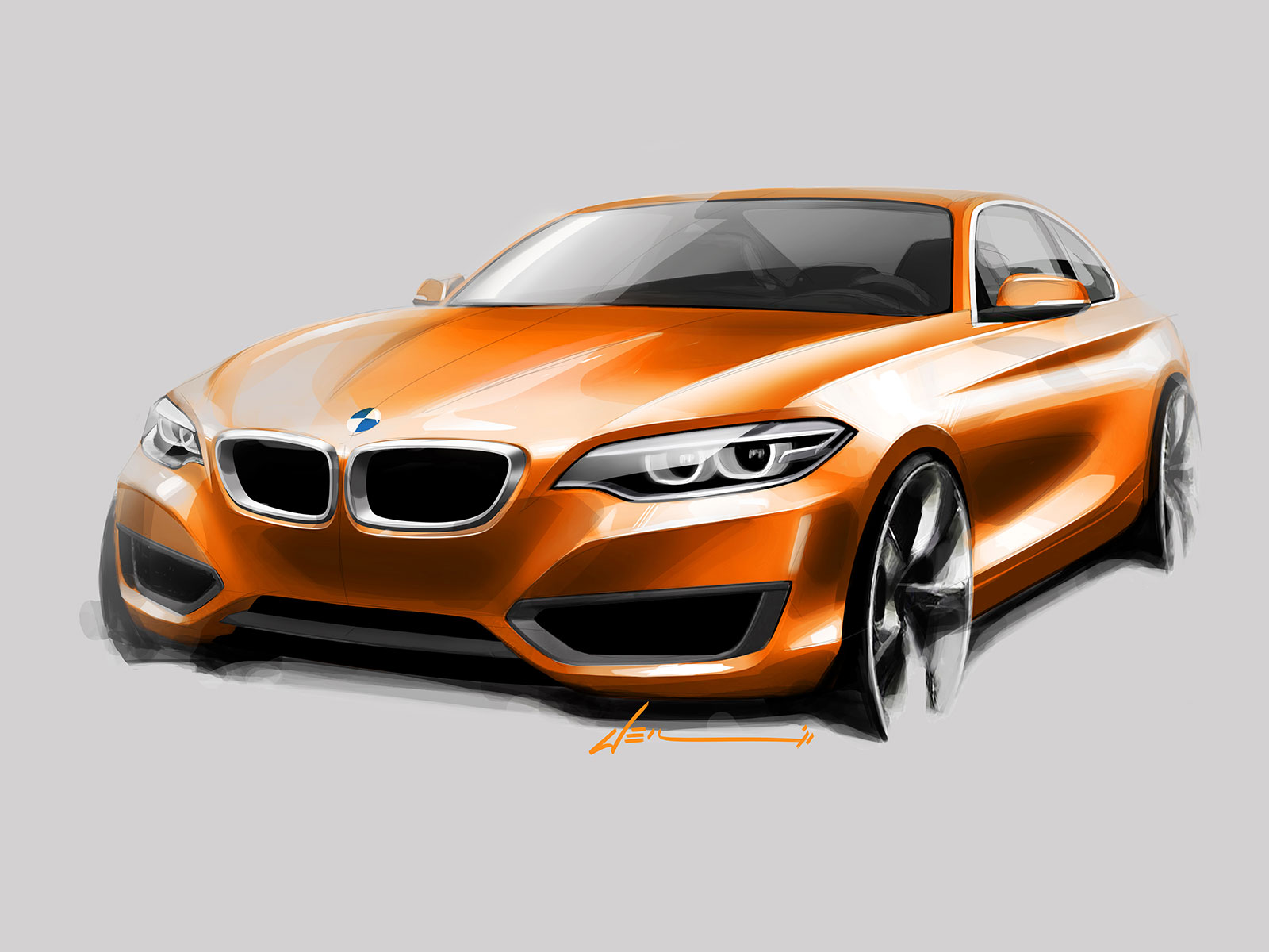 03 BMW 2 Series Coupe Design Sketch 01