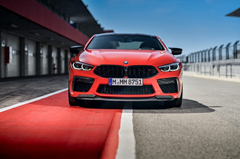 2020 BMW M8 Competition Coupe Fire Red 0 830x553