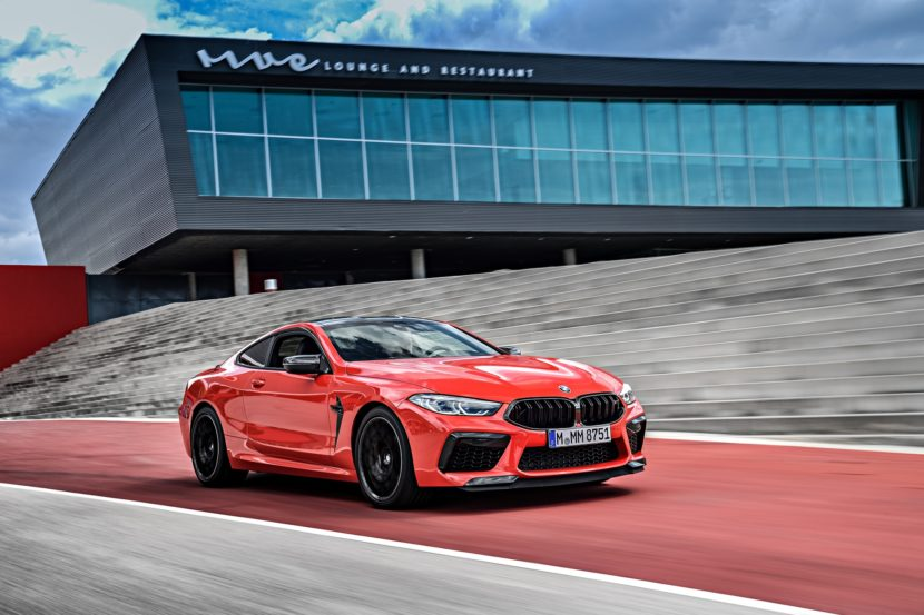 2020 BMW M8 Competition Coupe Fire Red 53 830x553