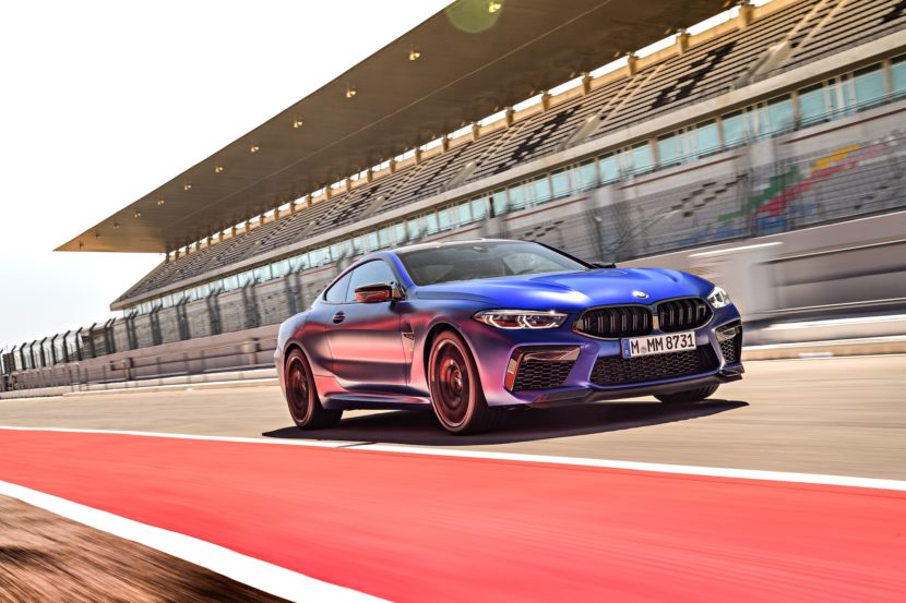 2020 BMW M8 Competition Coupe Frozen Marina Blue 18 830x553