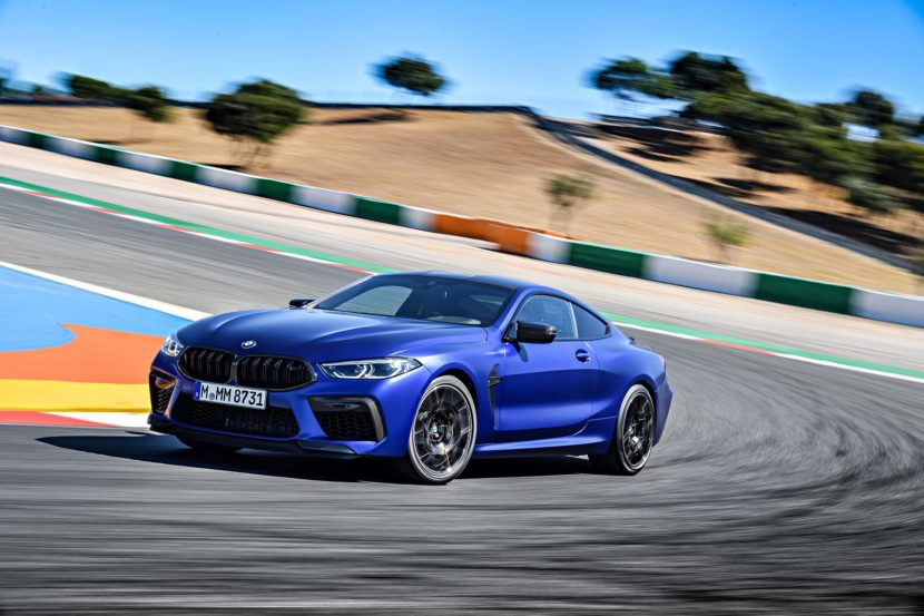 2020 BMW M8 Competition Coupe Frozen Marina Blue 24 830x553