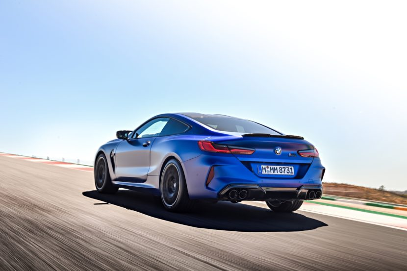2020 BMW M8 Competition Coupe Frozen Marina Blue 48 830x553