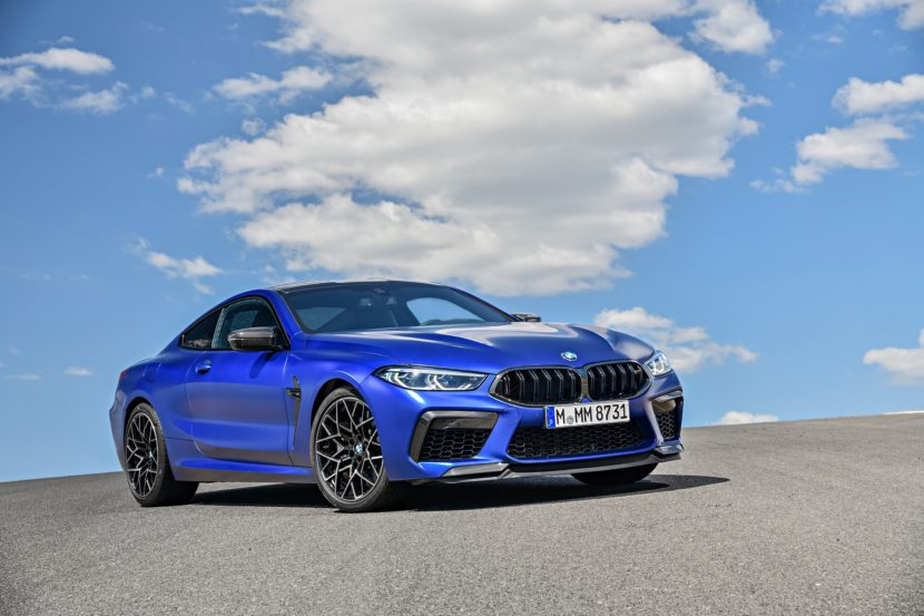2020 BMW M8 Competition Coupe Frozen Marina Blue 59 830x553