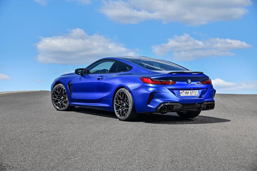 2020 BMW M8 Competition Coupe Frozen Marina Blue 65 830x553