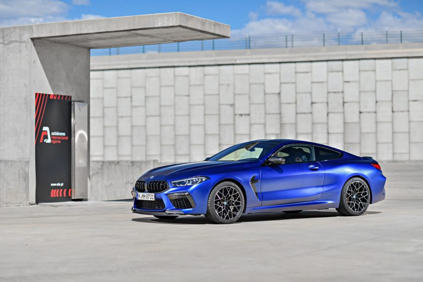 2020 BMW M8 Competition Coupe Frozen Marina Blue 67 830x553