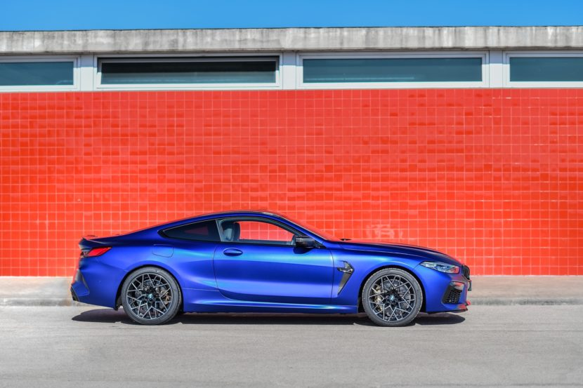 2020 BMW M8 Competition Coupe Frozen Marina Blue 74 830x553