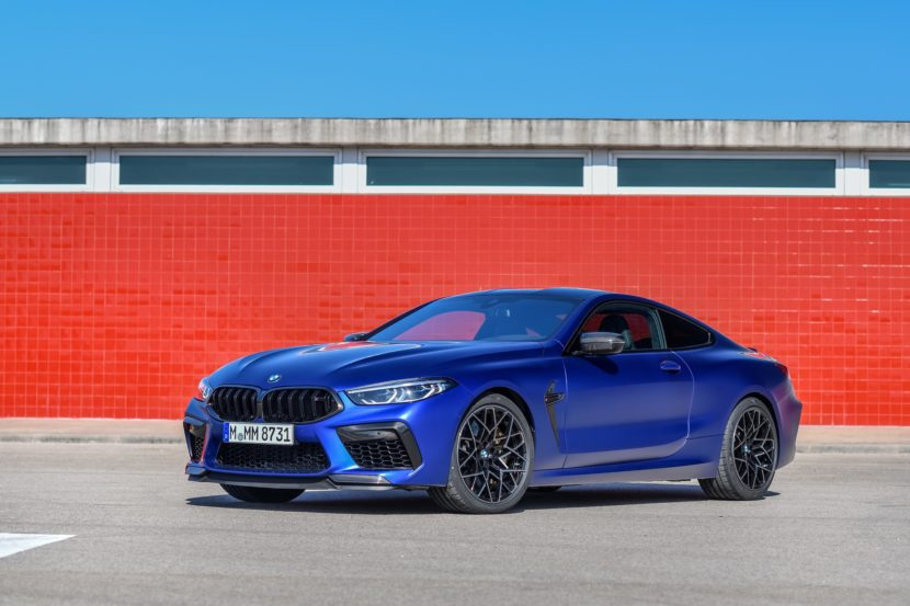 2020 BMW M8 Competition Coupe Frozen Marina Blue 76 830x553