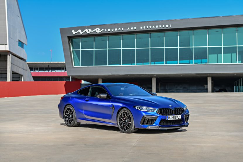 2020 BMW M8 Competition Coupe Frozen Marina Blue 82 830x553