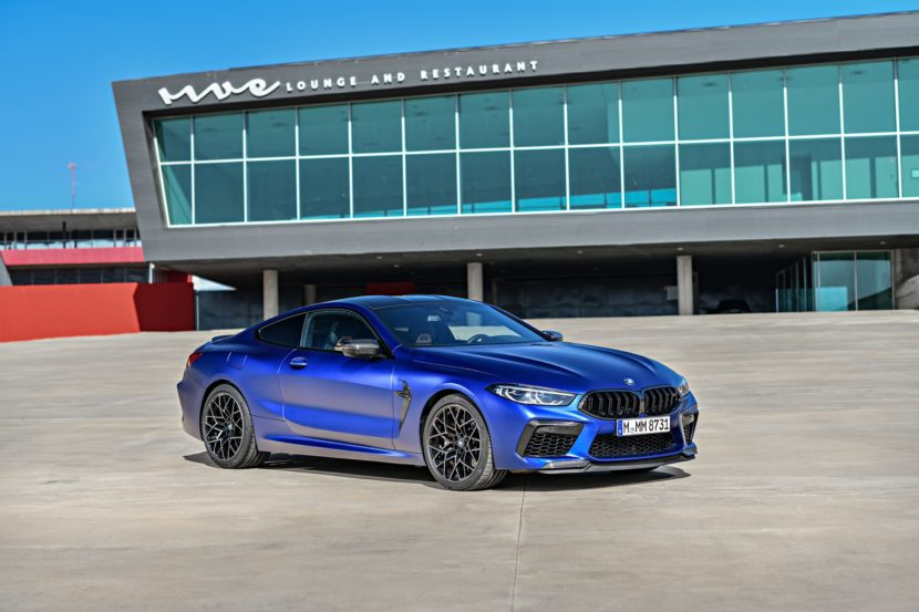 2020 BMW M8 Competition Coupe Frozen Marina Blue 83 830x553