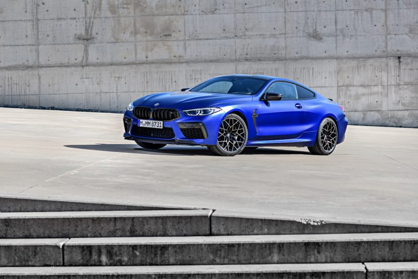 2020 BMW M8 Competition Coupe Frozen Marina Blue 85 830x553