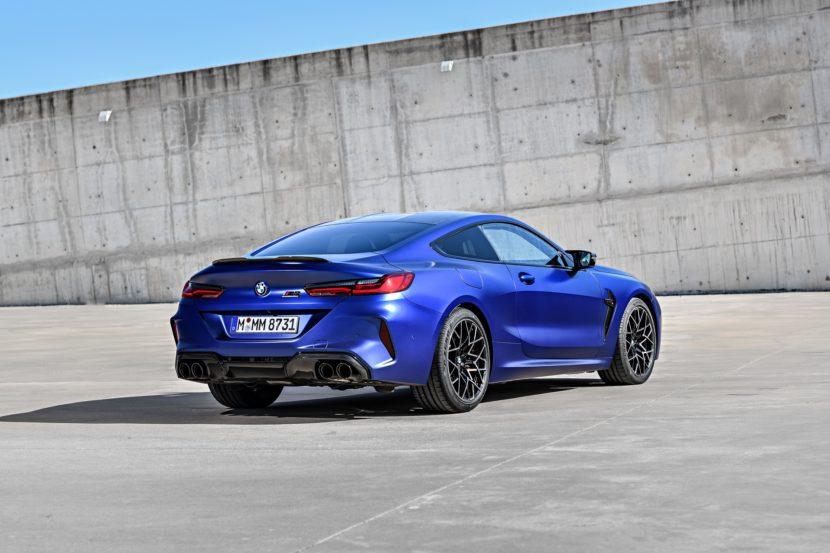 2020 BMW M8 Competition Coupe Frozen Marina Blue 89 830x553