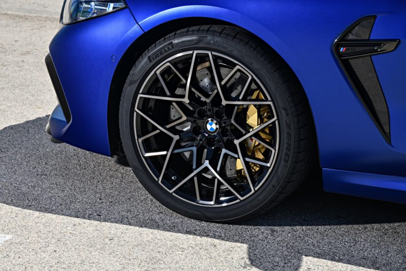 2020 BMW M8 Competition Coupe Frozen Marina Blue 91 830x553