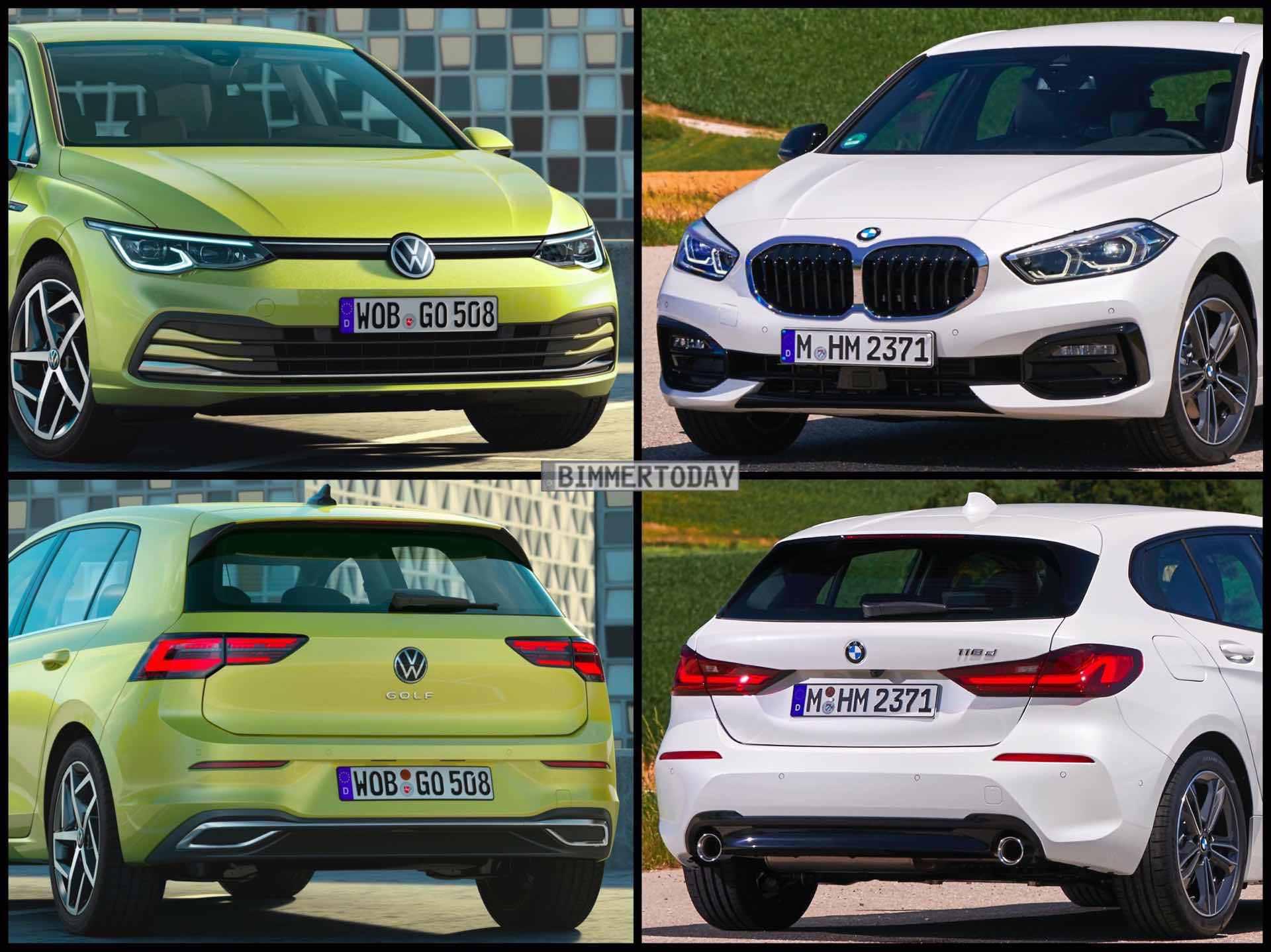 BMW 1er F40 VW Golf 8 2019 01