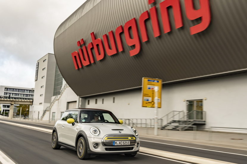 The New MINI Cooper SE on the Nurburgring circuit 1 830x553