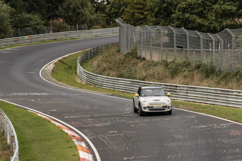 The New MINI Cooper SE on the Nurburgring circuit 3 830x553