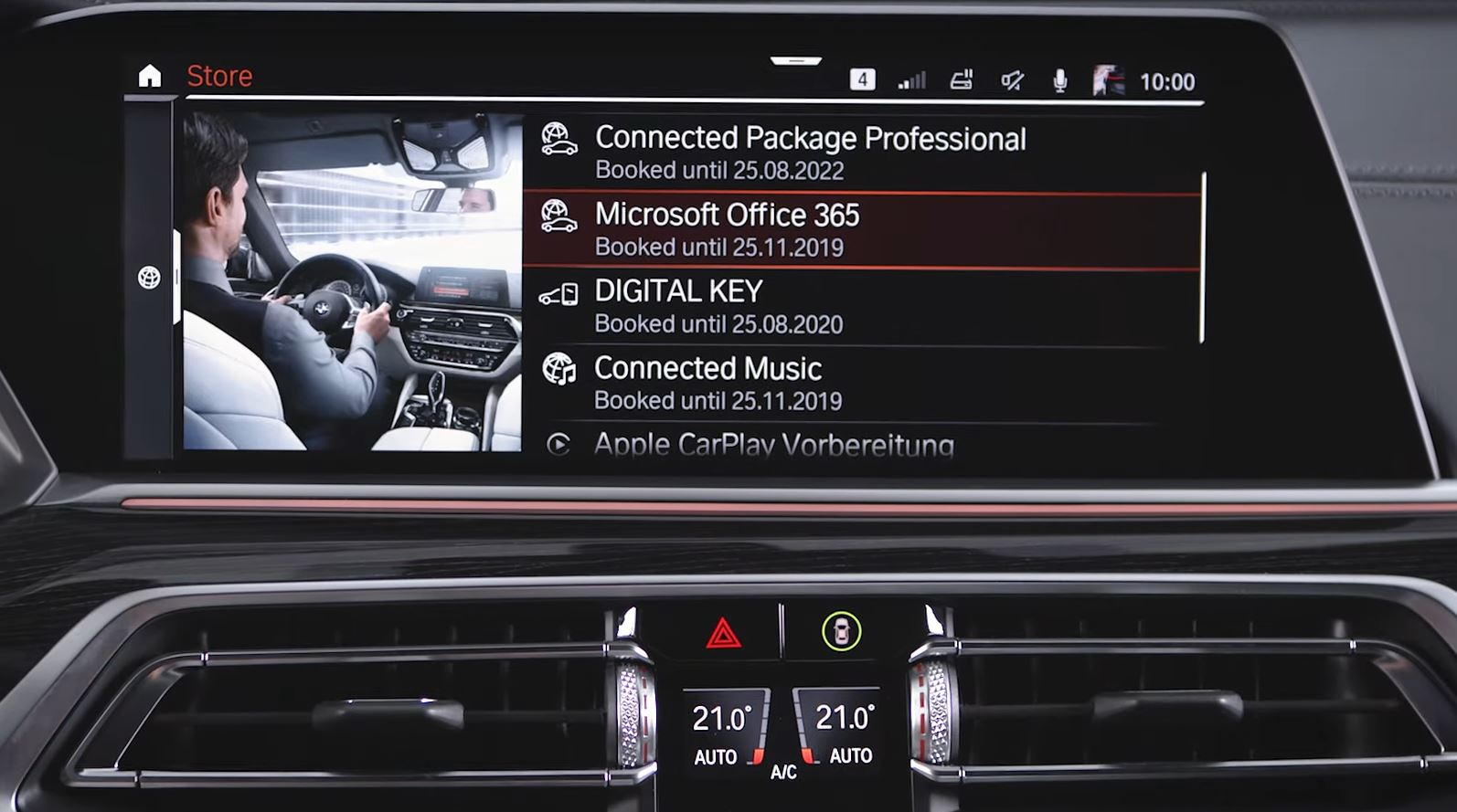 bmw idrive bookable options