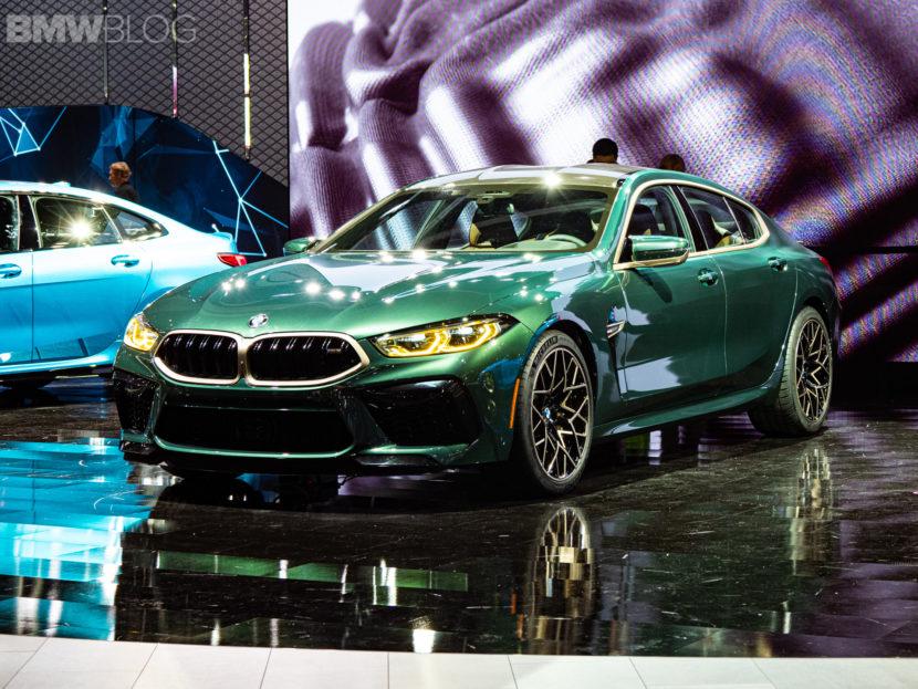 2020 BMW M8 Gran Coupe Aurora Diamant Green Metallic 1 830x623