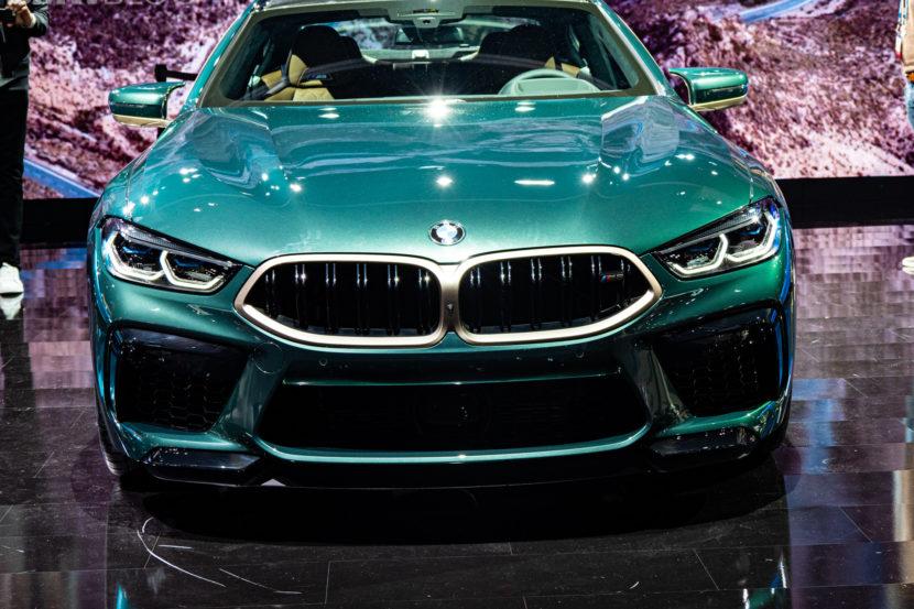 2020 BMW M8 Gran Coupe Aurora Diamant Green Metallic 12 830x553