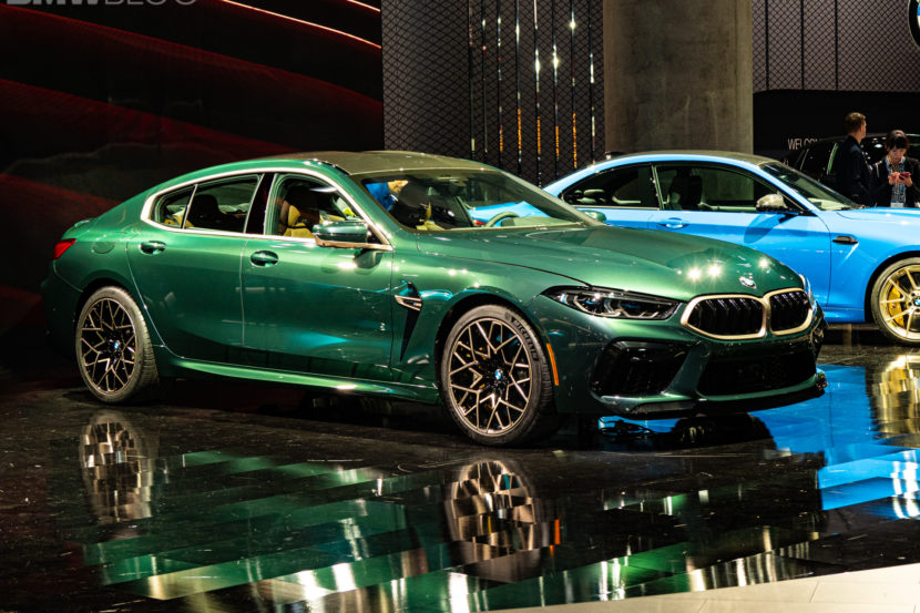 2020 BMW M8 Gran Coupe Aurora Diamant Green Metallic 13 830x553
