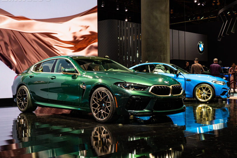 2020 BMW M8 Gran Coupe Aurora Diamant Green Metallic 20 830x553