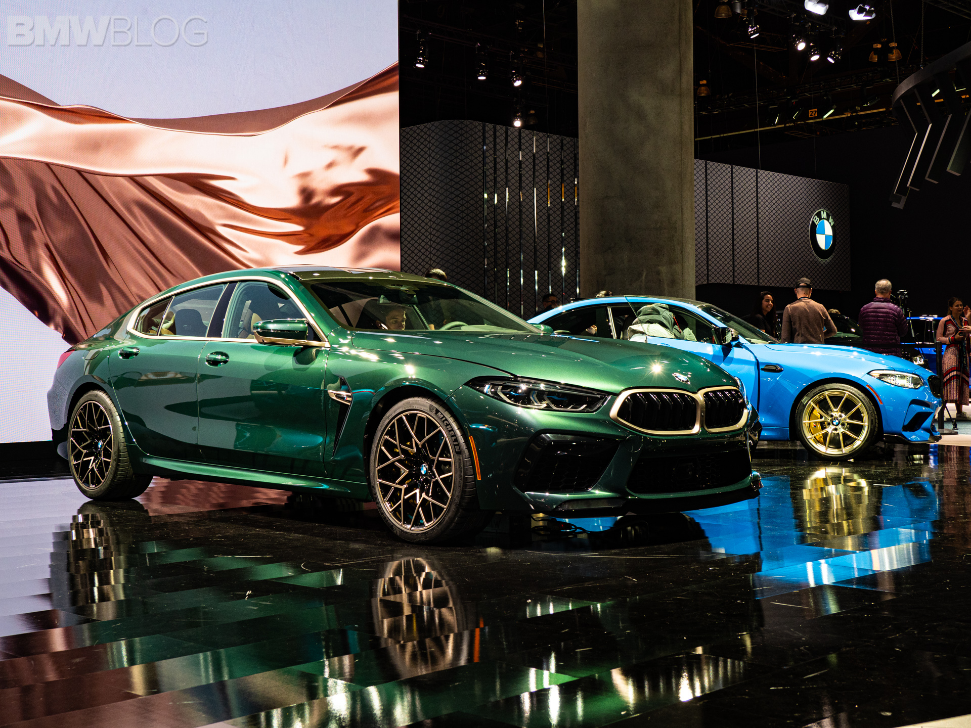 2020 BMW M8 Gran Coupe Aurora Diamant Green Metallic 20