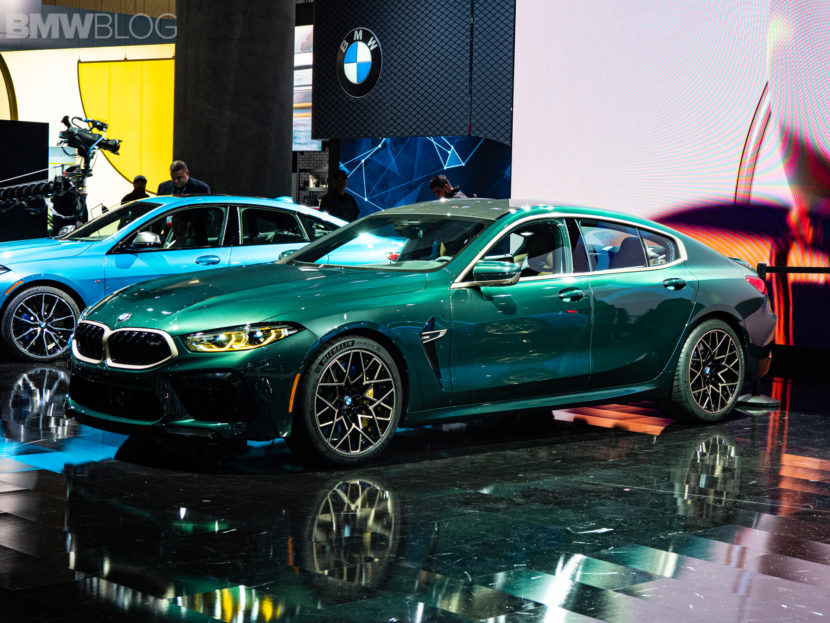 2020 BMW M8 Gran Coupe Aurora Diamant Green Metallic 4 830x623