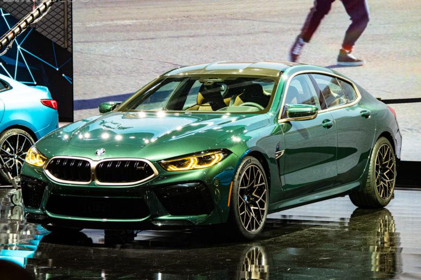 2020 BMW M8 Gran Coupe Aurora Diamant Green Metallic 7 830x553