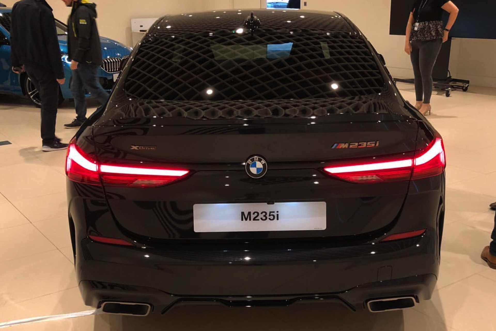 Bmw M235i Gran Coupe Spotted In Sapphire Black Upcoming Cars Library Up To Date