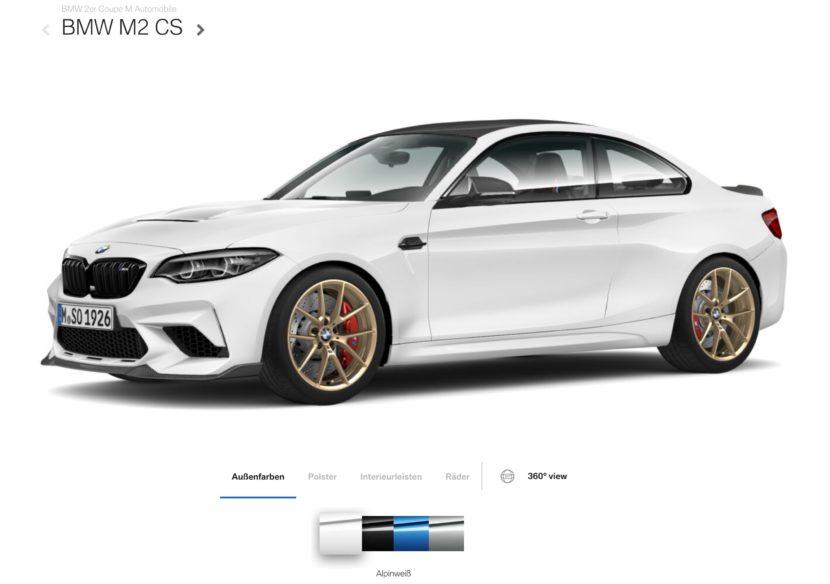BMW M2 CS Alpine White 830x584