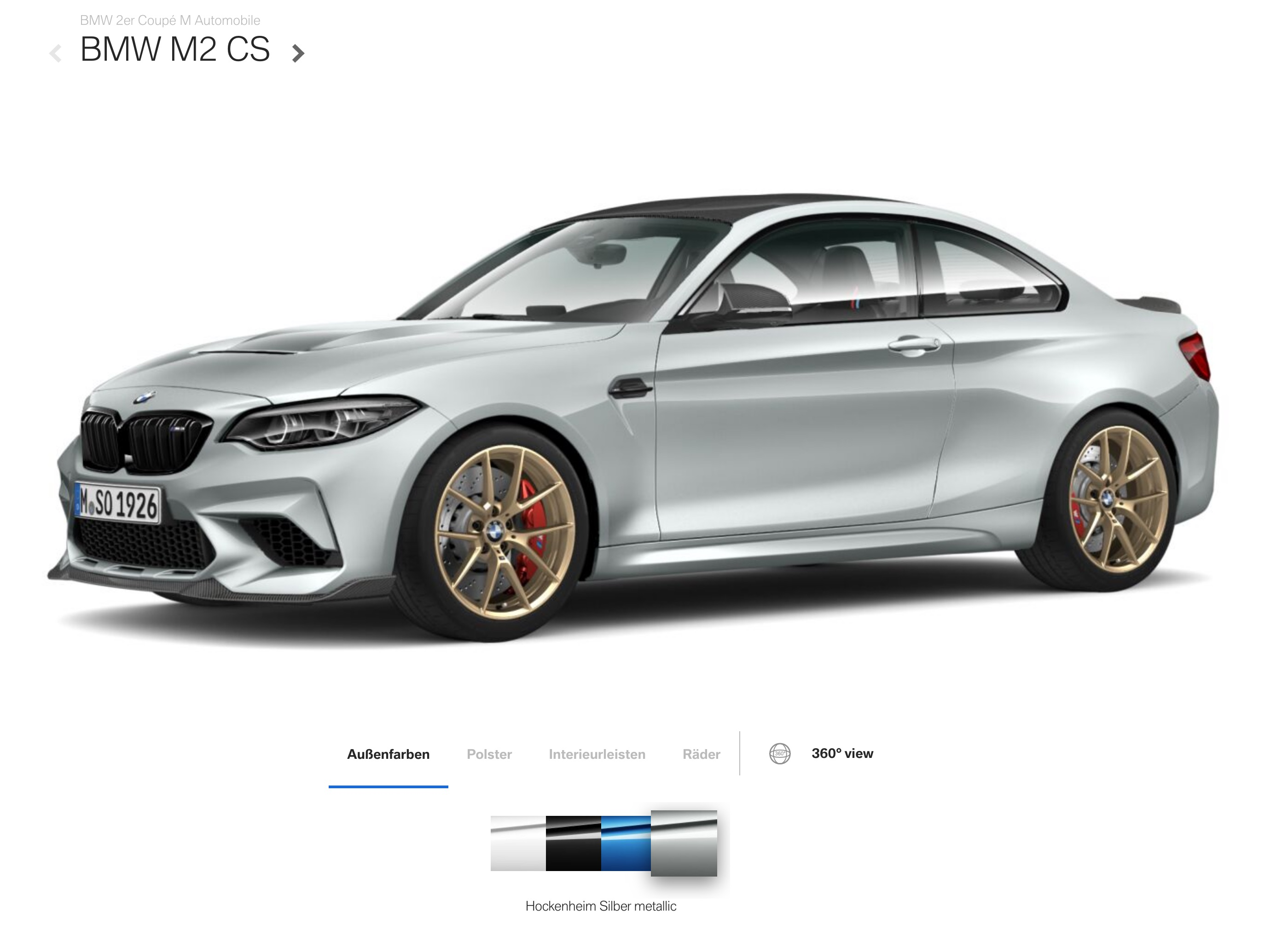 BMW M2 CS – Configure Online Your New Clubsport Coupe