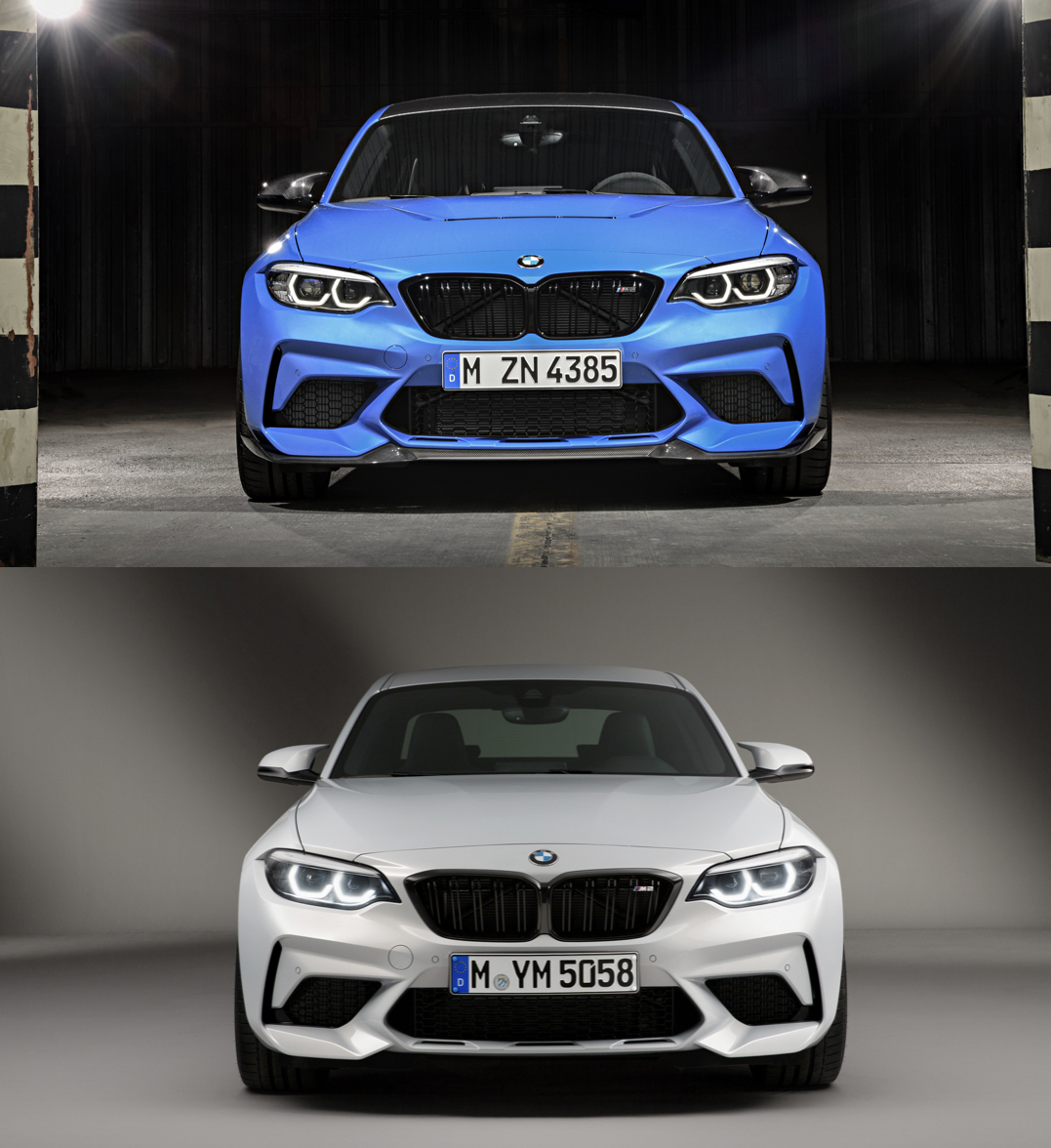 BMW M2 CS M2 Comp Comparison