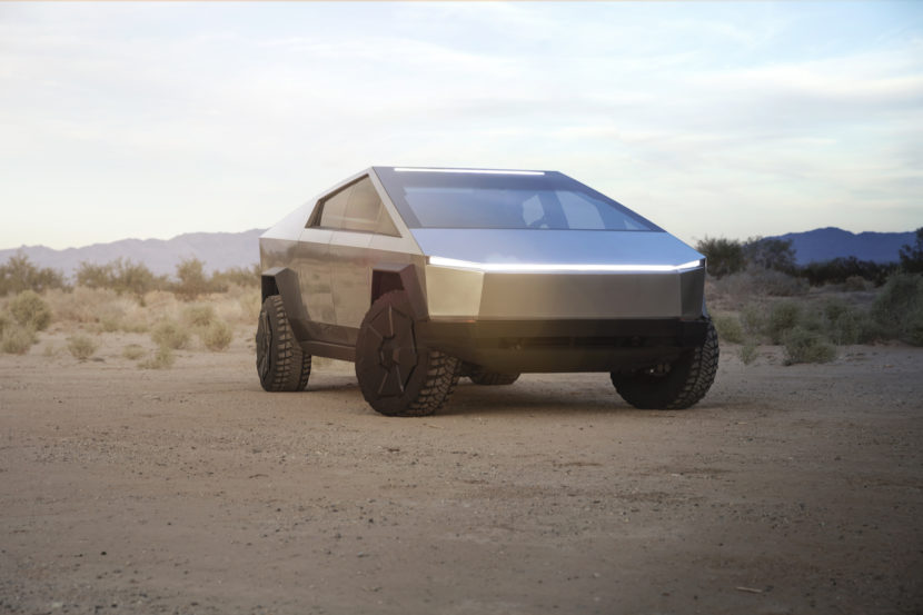 Tesla Cybertruck is an all-electric pickup seemingly designed in Minecraft