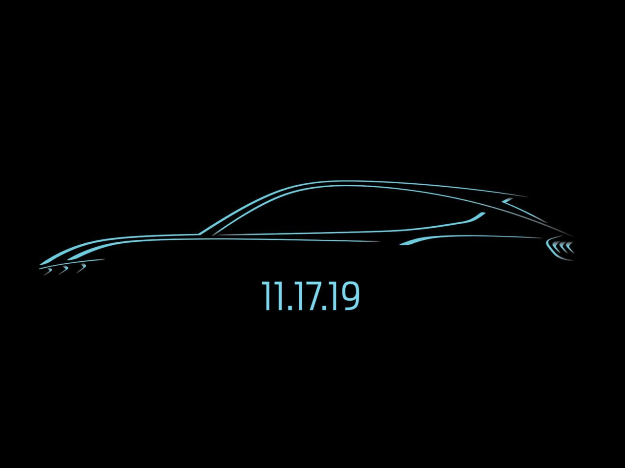 Ford Mustang Mach E Electric SUV Teaser