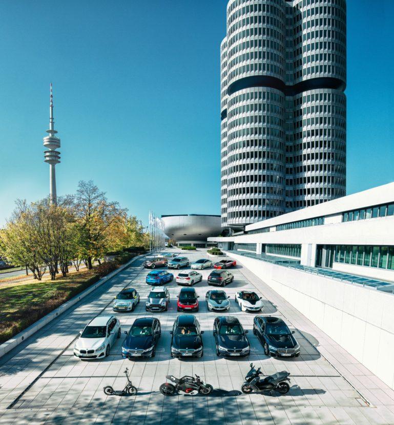 BMW Group electrified model portfolio 769x830