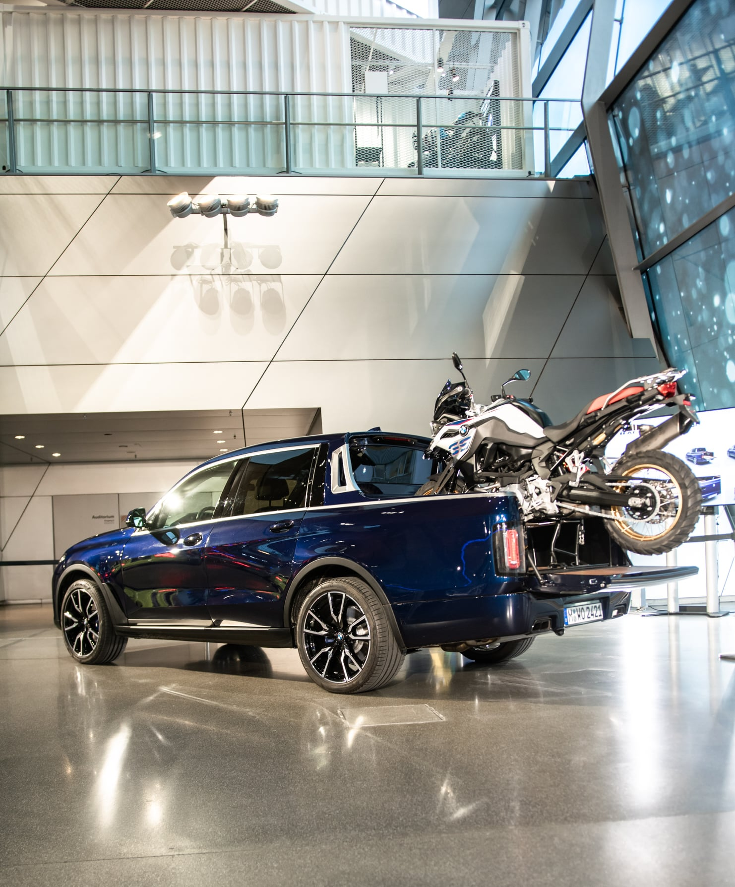 The One Off Bmw X7 Pickup Truck Is Now Displayed At The Bmw Welt