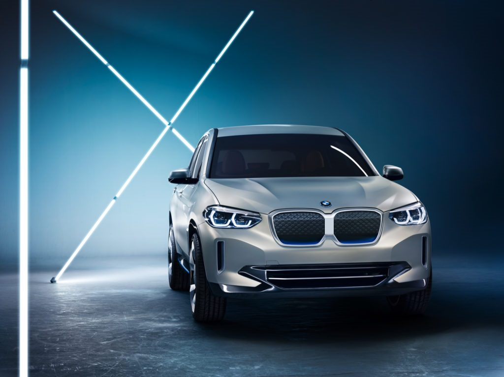 BMW iX3 pictured with separated kidneys