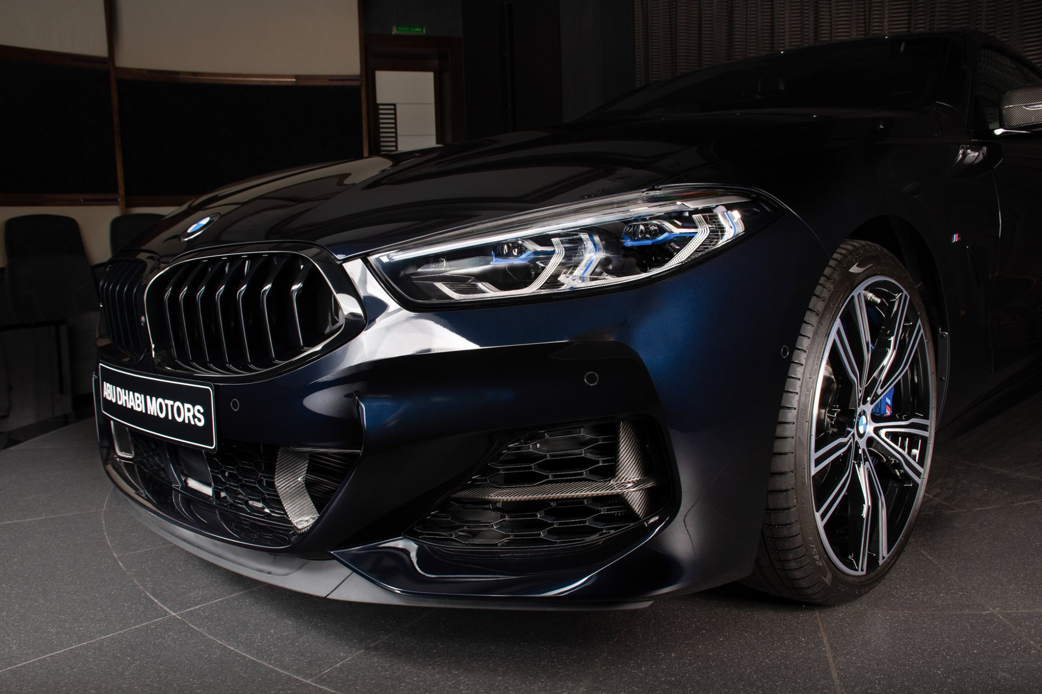The New BMW M850i xDrive Gran Coupe in Carbon Black 10