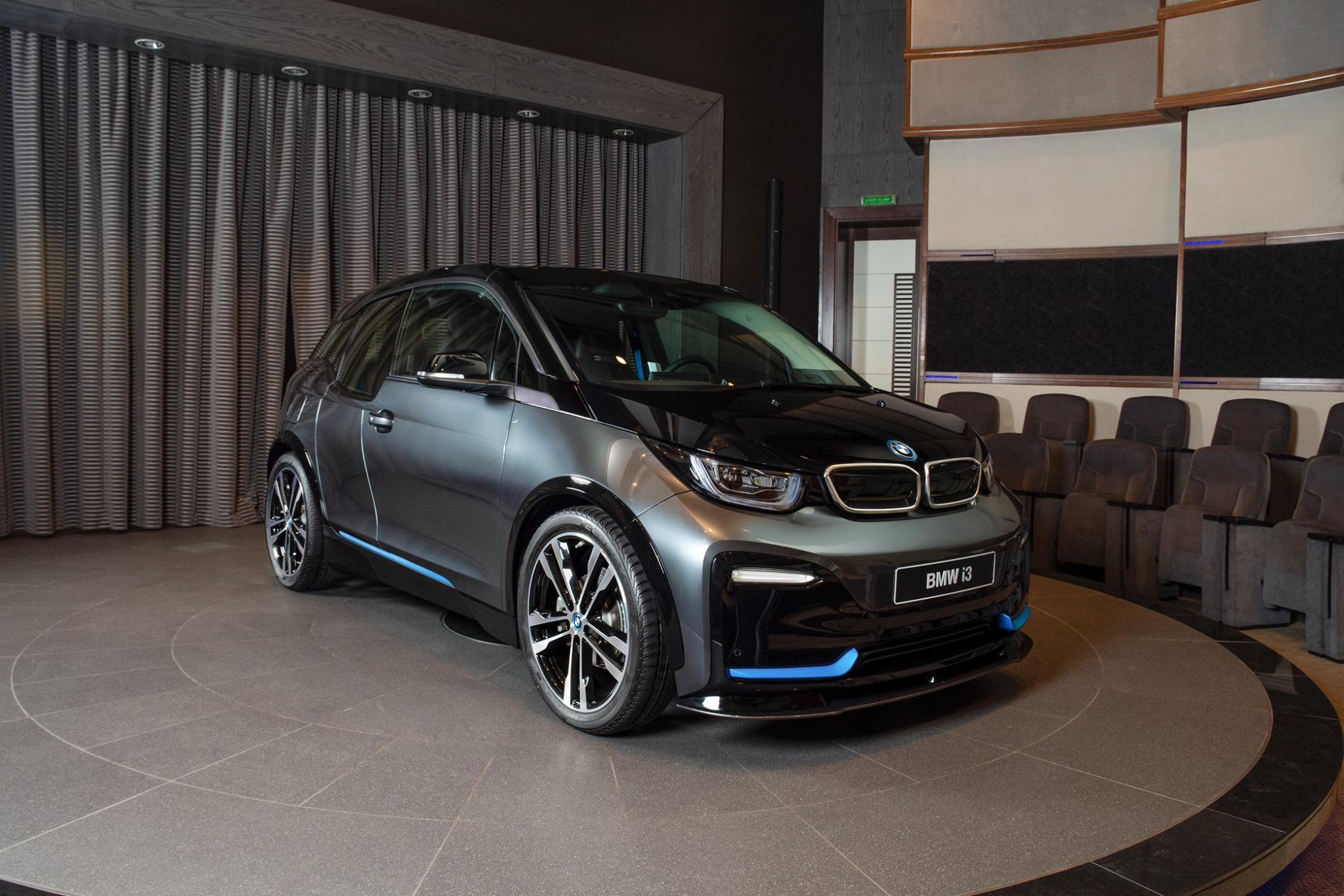 The new 2020 BMW i3s in Mineral Grey Abu Dhabi Dealership 4