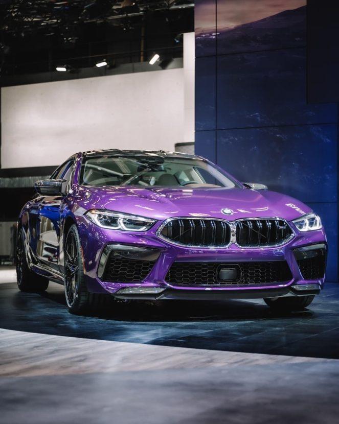BMW M8 Gran Coupe Twilight Purple 1 663x830